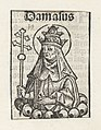 Paus Damasus I Damasus (titel op object) Liber Chronicarum (serietitel), RP-P-2016-49-59-8.jpg