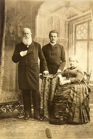 Prince Pedro Augusto of Saxe-Coburg and Gotha - Prince Pedro Augusto with his maternal grandparents, Emperor Pedro II of Brazil and Empress Teresa Cristina, 1887