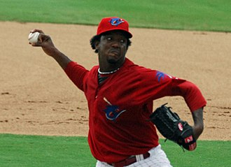 Pedro Martínez - Martínez with Clearwater Threshers on July 26, 2009