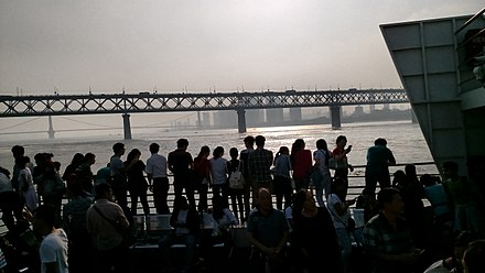 View from ferry (2015) People on the Ferry in Wuhan.jpg