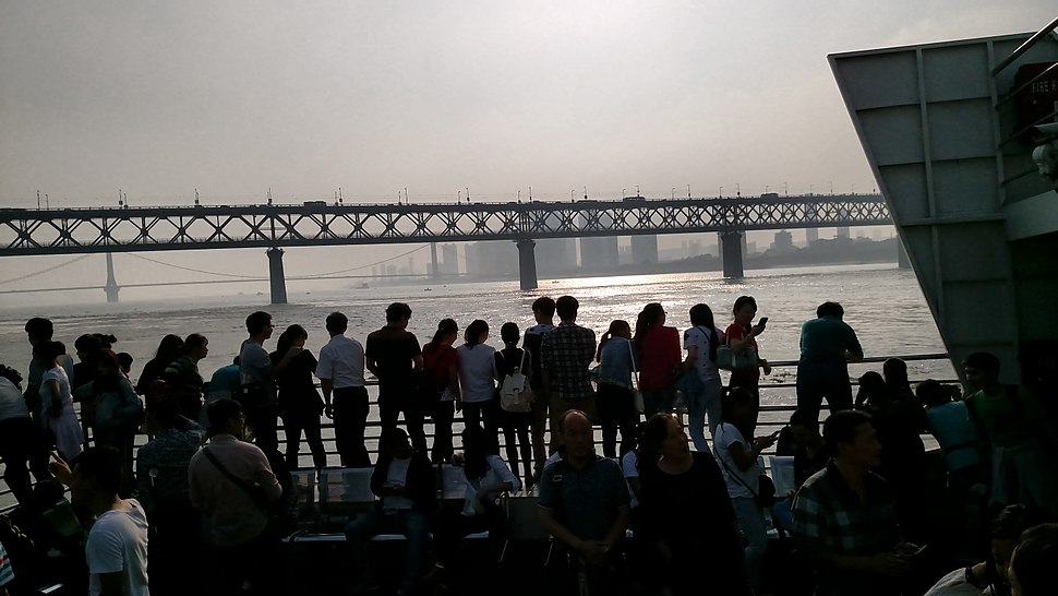 People on the Ferry in Wuhan