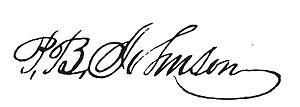 Perley B. Johnson - Image: Perley B. Johnson signature