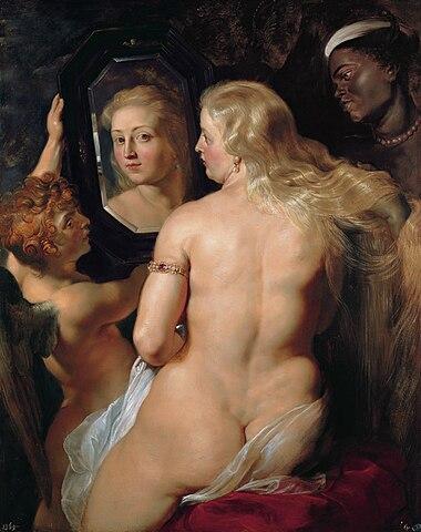 Венера перед зеркалом. Около 1612—1615 года, масло по дереву, 124 × 98 см, Коллекция Лихтенштейнов