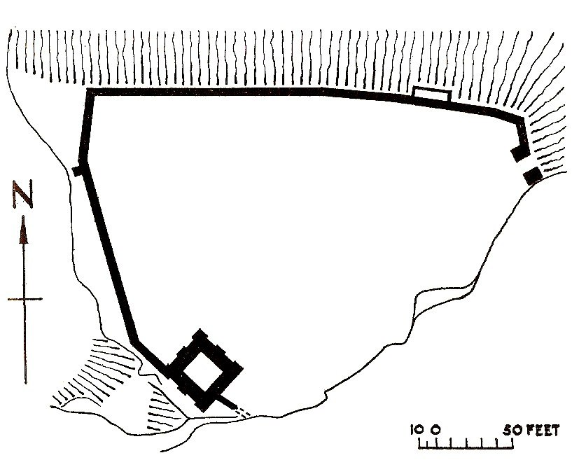 Peveril castle plan