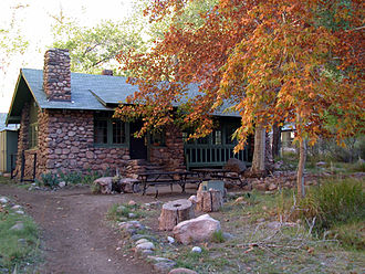 Mary Colter - The trend-setting Phantom Ranch Canteen, built at the bottom of the Grand Canyon