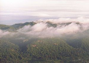 Chaiyaphum Province - The Luak ridge of the Phetchabun Mountains and the Sonthi river valley, as seen from the Sut Phaen Din viewpoint of Pa Hin Ngam National Park.