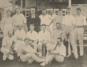 Philadelphian cricket team in England in 1897 - A team portrait of the Philadelphian side on the 1897 tour