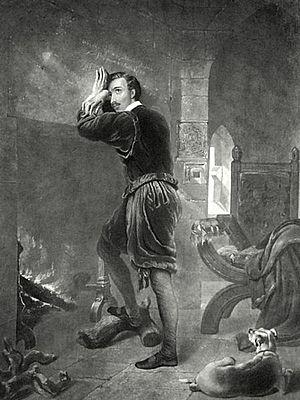 Philip Howard, 20th Earl of Arundel - Nineteenth-century engraving by William Barraud depicting the Earl of Arundel in the Tower of London.