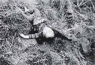 Phong Nhị and Phong Nhất massacre - A child killed during the Phong Nhi and Phong Nhat massacre. Photo by Corporal J. Vaughn, Delta-2 Platoon, U.S. Marine.