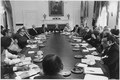 Photograph of President Gerald R. Ford Presiding Over an Afternoon Cabinet Meeting in the Cabinet Room - NARA - 186811.tif