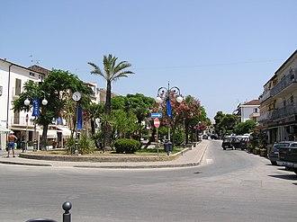 Marina di Casalvelino - A square in town's centre