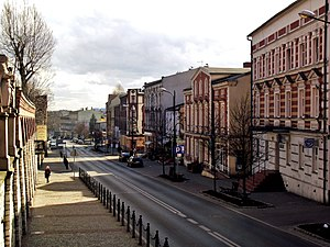 Piekary Śląskie - Bytomska Street, the main street of the city