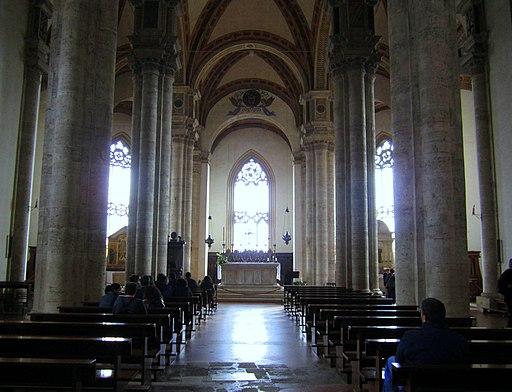 Pienza, Duomo, interiore