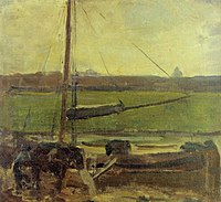 Piet Mondriaan - Polder with moored boat near Amsterdam II - A234 - Piet Mondrian, catalogue raisonné.jpg