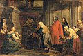 Pieter Jozef Verhaghen - The blessed Margaretha of Louvain worshiped by believers.jpg