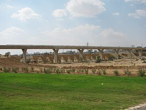English: Turkish railway bridge on the Nahal B...