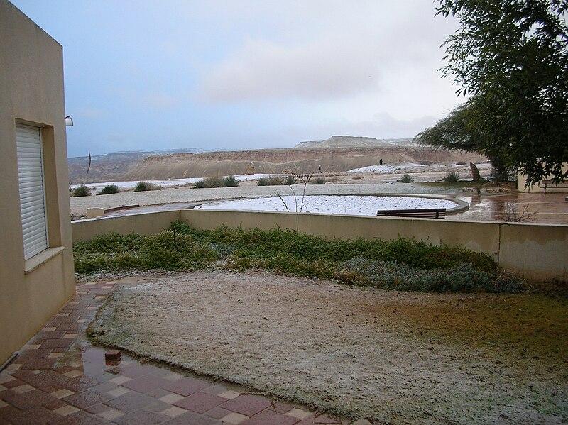 שלג ברמת נגב