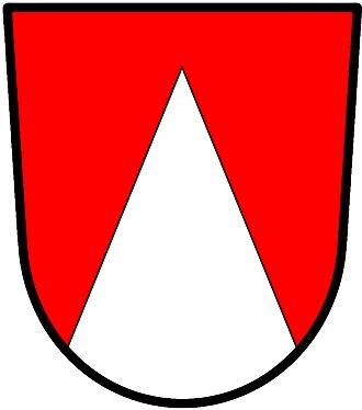Pile (heraldry) - Image: Pile reversed wiki