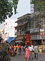 Pilgrims thronging the market, Upper Road, Haridwar.jpg