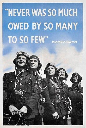 British propaganda during World War II - British WWII propaganda poster during the Battle of Britain.