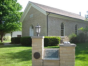 Plano Stone Church - Side of the church