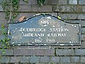 Plaque, site of Dudbridge Station, Stroud - geograph.org.uk - 932036.jpg
