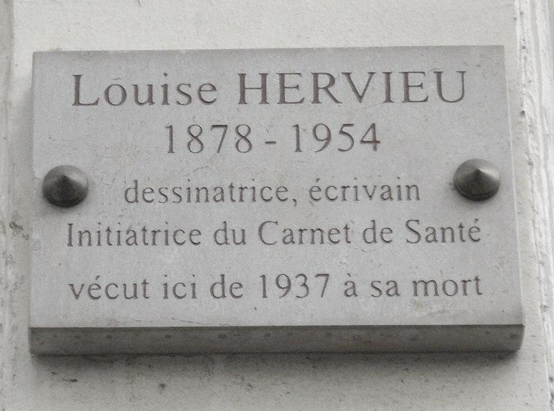 Fichier:Plaque Louise Hervieu, 55 rue du Cherche-Midi, Paris 6.jpg