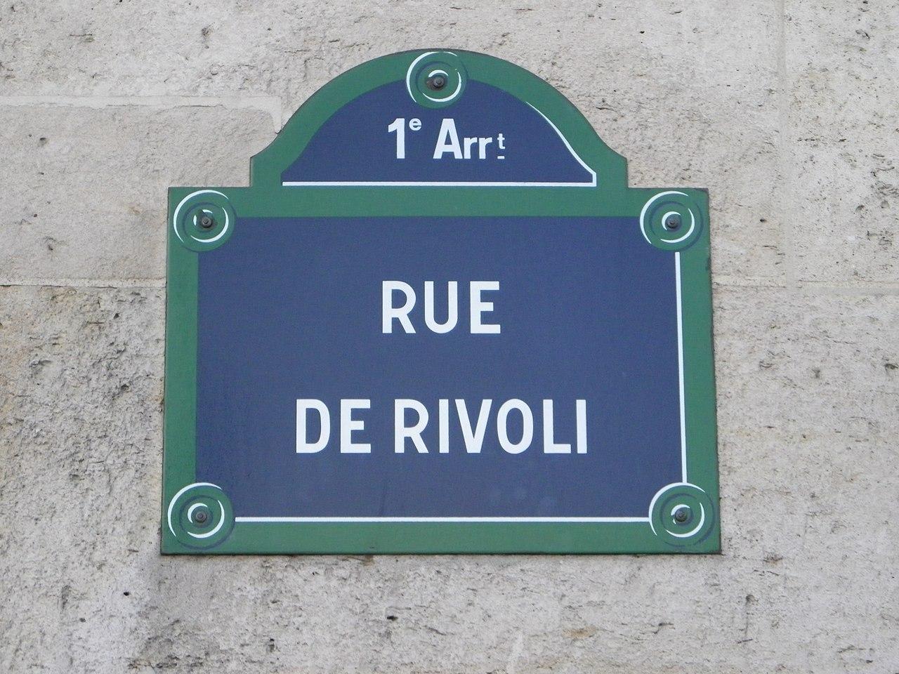 file plaque rue de rivoli paris jpg wikimedia commons. Black Bedroom Furniture Sets. Home Design Ideas