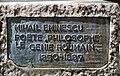 Plaque statue Mihai Eminescu, rue Jean-de-Beauvais, Paris 5e 2.jpg