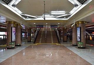 Tiananmen Xi (W) station Beijing Subway station