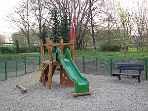 A playground slide