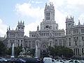 Plaza de Cibeles - Palacio de Communicaciones Madrid 2002.jpg