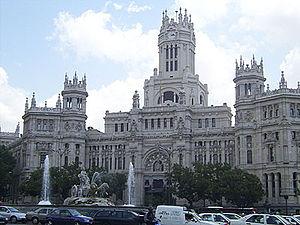 Palacio de Comunicaciones in Madrid