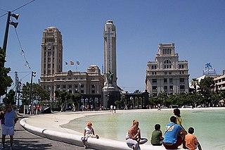 Plaza de España (Santa Cruz de Tenerife) square in Tenerife, Spain