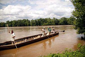James River bateau - Image: Poling Jamesacp