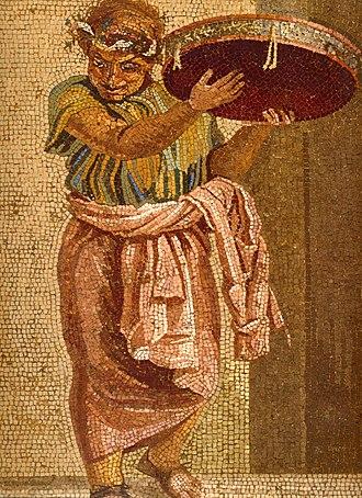 Tympanum (hand drum) - Image: Pompeii Villa del Cicerone Street Musicians Detail 3 MAN
