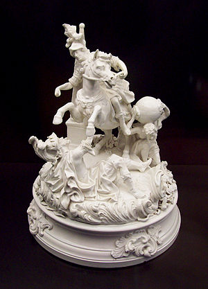 18th cent. porcelain sculptural group (M.A.N., Madrid)