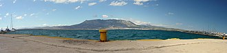Corinth - Panorama view of the port.