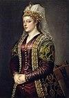 Portrait of Caterina Coronaro 1542 uffizi florence Titian.jpg