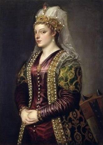 Catherine Cornaro - Portrait of Caterina Cornaro by Titian, 1542