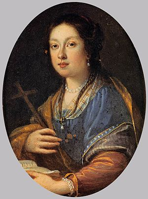 Margherita de' Medici - Image: Portrait of Margherita de' Medici, c. 1628, Oil on canvas, 187 x 115 cm, Galleria Palatina (Palazzo Pitti), Florence