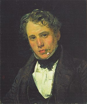 Wilhelm Marstrand - Christen Købke, Portrait of Wilhelm Marstrand, oil on canvas, 1836