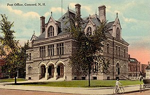 Concord, New Hampshire - Old Post Office in 1910