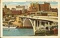 Postcard of Main Street Viaduct and Ship Channel, Houston, Texas (10001084).jpg