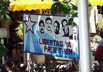 Cuban Five - Sign on a street in Varadero, Cuba