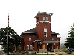 The Washington County Courthouse in Potosi
