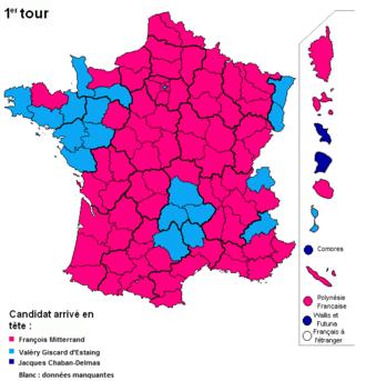 French presidential election, 1974 - Image: Présidentielle française 1974 premier tour