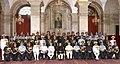 Pranab Mukherjee, the Vice President, Shri Mohd. Hamid Ansari, the Prime Minister, Shri Narendra Modi, the Union Minister for Defence, Shri Manohar Parrikar and other dignitaries at the Defence Investiture Ceremony–II.jpg