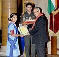 Pranab Mukherjee presented the Bharat Scouts & Guides Award 2011-2012, at the presentation of the Rashtrapati Scouts & Guides Awards for the year-2011 & 2012, at Rashtrapati Bhavan, in New Delhi on September 09, 2013 (1).jpg