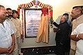 Pranab Mukherjee unveiling the plaque to inaugurate a Vedapathashala of Tirumala Tirupati Devasthanam, at Ai-Bhimavaram, in Andhra Pradesh. The Governor of Andhra Pradesh and Telangana.jpg